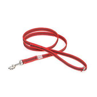 """Julius-K9 Farve og Grå Super-Grip Snor Rød-Grå Bredde (1/2"""" / 14mm) Lenght (4ft / 1,2 m) Med håndtag og O ring, Max for 66lb/30 kg Hund"""