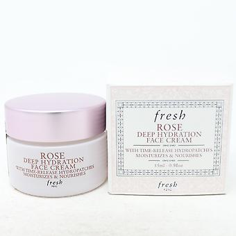 Verse Rose Deep Hydratatie Mini Face Cream 0.5oz/15ml nieuw met doos