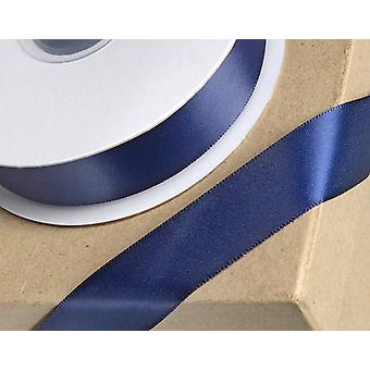 25m Navy Blue 10mm Wide Satin Ribbon for Crafts
