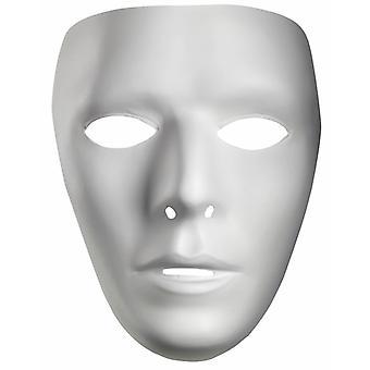 Drame de mâle blanc Costume PVC blanc hommes masque