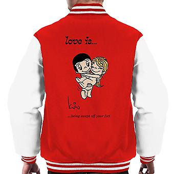 Love Is Being Swept Off Your Feet Men's Varsity Jacket