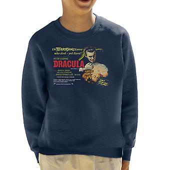 Hammer Horror Films Drácula Terrifying Lover Kid's Sweatshirt