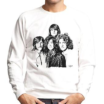 Led Zeppelin-yhtyeen laukaus Lontoossa valkoinen miesten svetaripaita