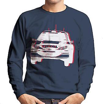 Motorsport Bilder Peugeot 206 WRC Mid Air Men's Sweatshirt
