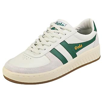 Gola Grandslam 78 Mens Casual Trainers in Off White Green