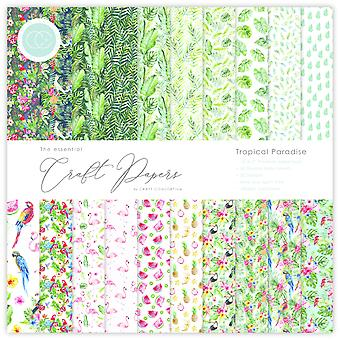 Craft Consortium Essential Craft Papers 12x12 Inch Paper Pad Tropical Paradise