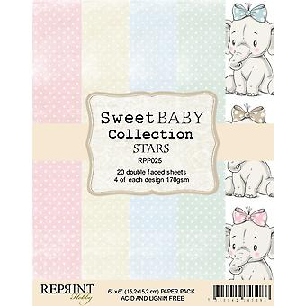 Reprint Sweet Baby Stars 6x6 Inch Paper Pack