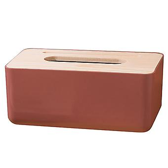 Plastic Tissue Box 23x13x10cm Navy red