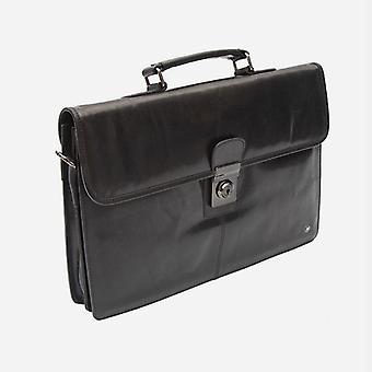 Primehide Mens Slim Piele Servieta Lockable Top Handle Work Bag Gents 6274