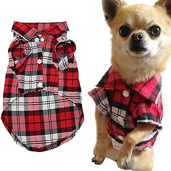 Pet Dog Clothes Soft Summer Plaid Dog Vest Clothes For Small Dogs Chihuahua