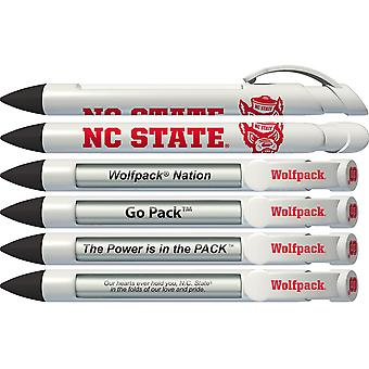 Greeting Pen College Pens- North Carolina State Wolfpack Braggin' Droits Tournant Message 6 Pen Set 20522