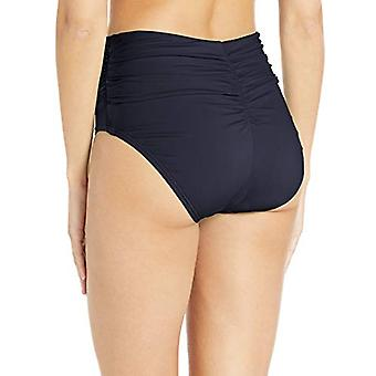 Carmen Marc Valvo Femmes-apos;s Shirred Waist Bikini Bottom Maillot de bain, Ocean Waves D...