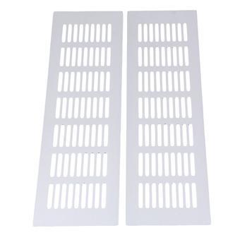 2 unids 300mm plata color aleación armario ventilación Vent Grille
