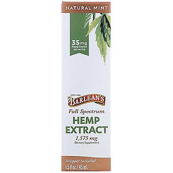 Barlean's, Full Spectrum Hemp Extract, Natural Mint, 35 mg, 1.5 fl oz (45 ml)