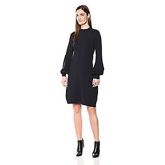 Lark & Ro Frauen's Mock Neck Fit und Flare Pullover Kleid mit Glockenärmeln, Na...