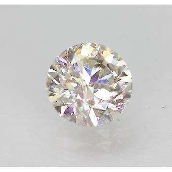 معتمد 1.10 قيراط H VS1 جولة رائعة المحسنة الطبيعية فضفاضة الماس 6.48mm