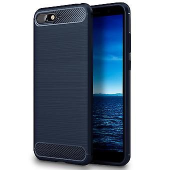 Shell Protection to Huawei Y6 (2018) | Blue Shock Resistant TPU