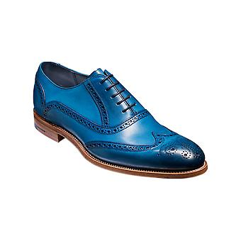 Barker Valiant - Blue Hand Painted  | Mens Handmade Leather Oxford Brogues | Barker Shoes