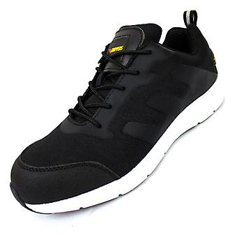Mens Casual Safety Trainer Shoes - Steel Toe - Lightweight Breathable Industrial Sneakers