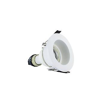LED Fire Rated Downlight Recessed White GU10 Holder Matt White IP65