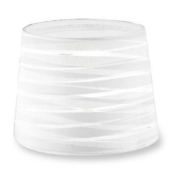 Klæd tilspidset runde tekstureret hvid Finish skygge