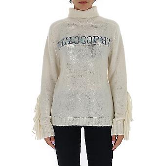 Filosofia Por Lorenzo Serafini 09045704a2002 Women's White Wool Sweater