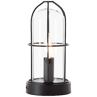 LYSANDE Lampa Storm Bordslampa Svart | 1x D45, E14, 40W, lämplig för drop-lampor (ingår ej) | Skala A++