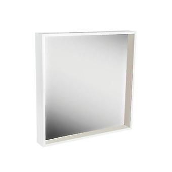 2 Piece Box Mirror Frame Set - 16 x 16 Square Acrylic Frame - White
