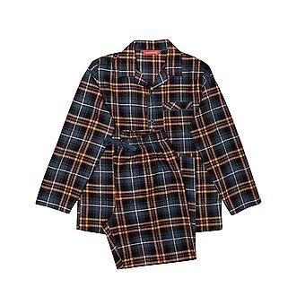 Minijammies Arthur 6500 Boy's Blue Mix Check Pyjama Set