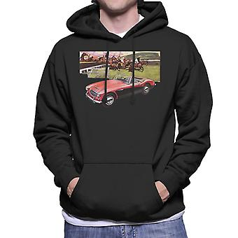 Austin Healey Sports Horses Jump British Motor Heritage Men's Hooded Sweatshirt