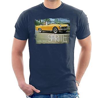 Austin Healey Sprite Mark IV Yellow British Motor Heritage Men's T-Shirt