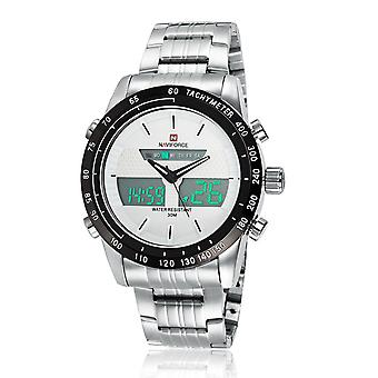 Naviforce Männer wasserdichte Sport Casual Watch Led Dual Dispkay Quarz