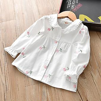 Girls Spring And Autumn, Chemise à manches longues Bow Western Style Clothes Set-1