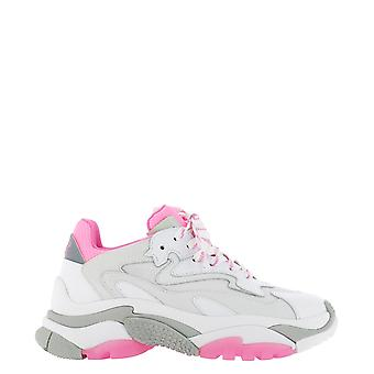 Ash Addict006 Women's White/pink Leather Sneakers