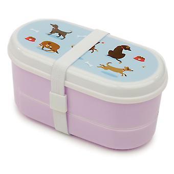 Puckator Catch Patch Dog Bento Lunch Box