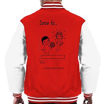 Love Is Feeling Light Headed Men's Varsity Jacket