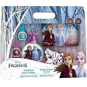 Disney Frozen II Gift Set 50ml EDT - 2x Nail Polish - Nail File - Toiletry Bag