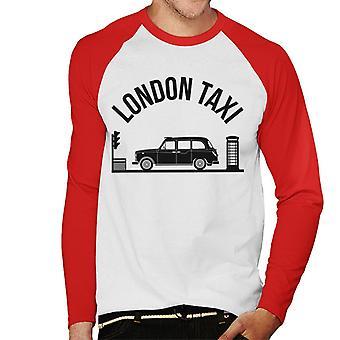 London Taxi Company TX4 Vid trafikljus Män's Baseball Långärmad T-shirt