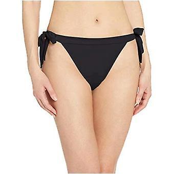 أساسيات المرأة & apos;ق الجانب التعادل بيكيني ملابس السباحة القاع, أسود, XL