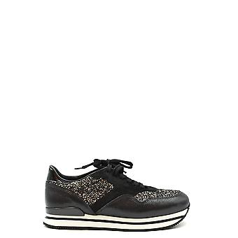 Hogan Ezbc030251 Women's Black Leather Sneakers