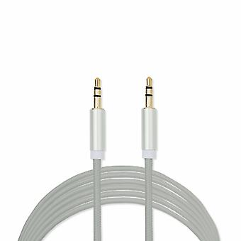 FX Powabud Aux-In-Cable 3.5mm Braided - Silver