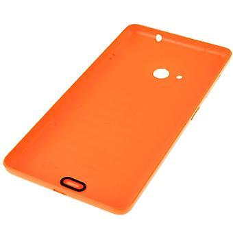 Kirkkaan pinnan yksivärinen muovinen paristokotelon takakansi Microsoft Lumia 535:lle (oranssi)