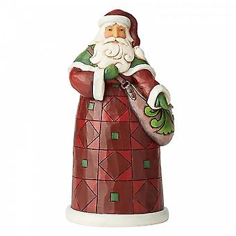 Jim Shore Heartwood Creek Santa With Satchel