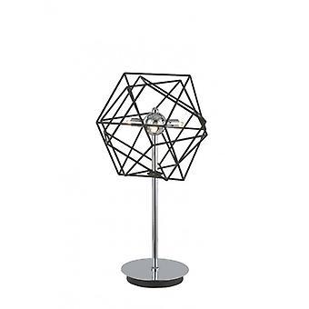 Vinci Chrome Tischleuchte 3 Glühbirnen