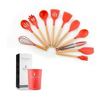 12pcs Premium Silicone Cooking Tools Set With Storage Box