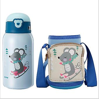 A Kids Water Bottle Thermoses,thermal Vacuum Cups For Kids, Stainless Steel Water Bottle With Straw