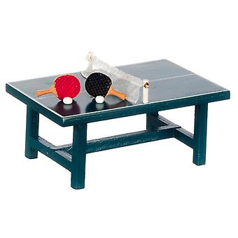 Dolls House Table Tennis Set Ping Pong Table Set  Miniature 1:24 Scale Game