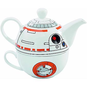 "Star Wars SW03543 ""Epvii"" Teapot and Mug Set, White, Set of 2"