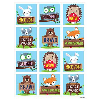Woodland Friends récompense autocollants, Pack de 60