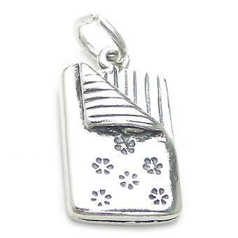 Sleeping Bag Sterling Silver Charm .925 X 1 Slumber Party Sleepover Charms - 3702